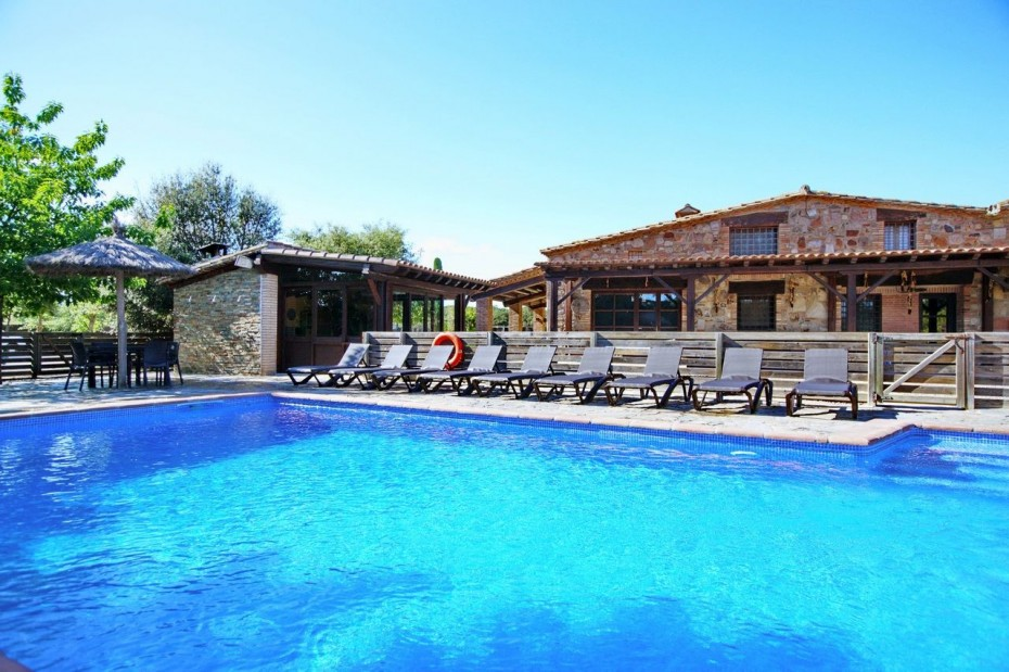 Casa rural Costa Brava cerca de Barcelona 5 habitaciones - Villa Paller Mas Estrada Riudarenes